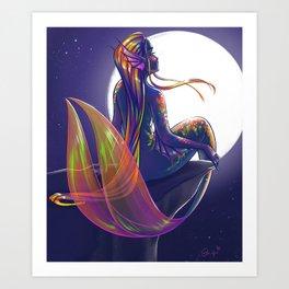 October- Birthstone Mermaid Series Art Print