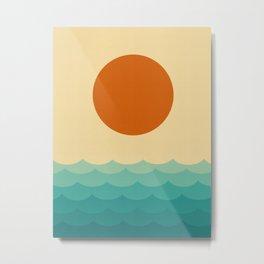 Expressionist beach Metal Print
