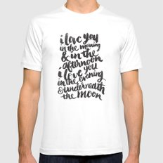 I love you in the morning Mens Fitted Tee White MEDIUM