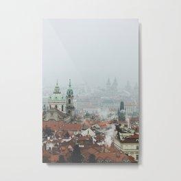 Cold Mornings over Prague Metal Print
