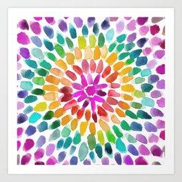 RAINBOW RADIANT Art Print