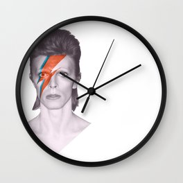 He Left Stardust and A Blackstar Behind Wall Clock