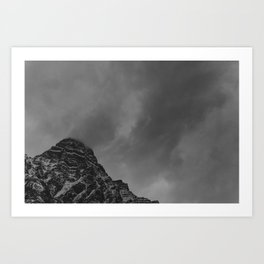 Stormy, Winter Mountain Art Print