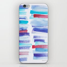 2  | 181101 Watercolour Palette Abstract Art | Lines | Stripes | iPhone Skin