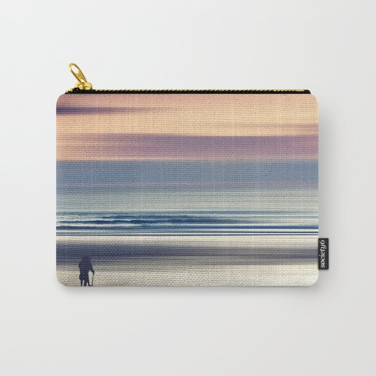 Sharing the Magic - abstract seascape at sunset Carry-All Pouch