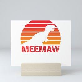 Grandma Gift Meemaw Saurus Rex Meemaw Saurus T-shirt Mini Art Print