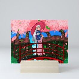 Dafu in a Sakura Garden (OC art) Mini Art Print