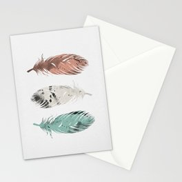Pastel Feathers Stationery Cards
