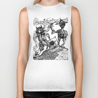 wild things Biker Tanks featuring Wild Things by intermittentdreamscapes