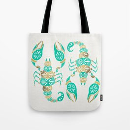 Scorpion – Turquoise & Gold Tote Bag