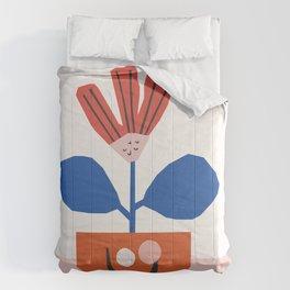 Happy Little Flower Pot | Colorway No 2 Comforters