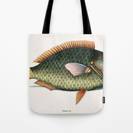 Illustrated Tropical Parrot Fish Game Fish Identification Chart Tote Bag