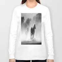 horses Long Sleeve T-shirts featuring Horses  by Gracy Dreamscape