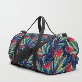 Pohutukawa - Red / Green Duffle Bag