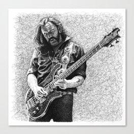 Lemmy scribble art Canvas Print