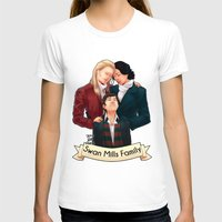 swan queen T-shirts featuring Swan Mills family by afterlaughtersart