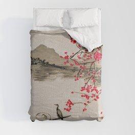 Japan Crane Fishing Comforters