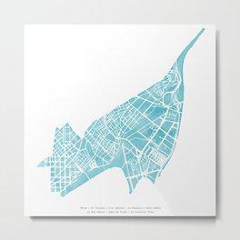 Barcelona map: Sant Andreu (mint) Metal Print