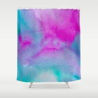 aurora Shower Curtains featuring Aurora by elena + stephann