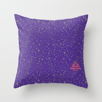 Trail Status / Mountain Purple Throw Pillow
