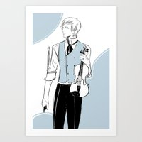 violin Art Prints featuring Violin by Cassandra Jean