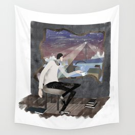 Caffee, Books and Solitude Wall Tapestry