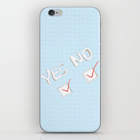 Yes No iPhone & iPod Skin