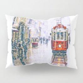 Istanbul Nostalgic Tramway Pillow Sham
