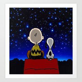 snoopy dreams Art Print