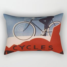 1931 Bicycles Geugeot by Roger Perot Vintage Poster Rectangular Pillow