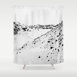 Black White World Shower Curtain
