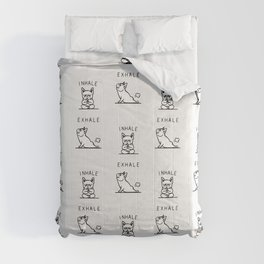 Inhale Exhale French Bulldog Comforters