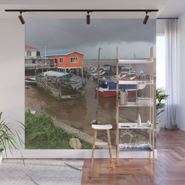 Murky Pier in South America Wall Mural