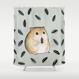 Seed lover hamster Shower Curtain