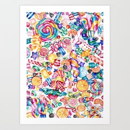 CandyWorld Art Print
