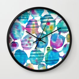 Freestyle watercolor Wall Clock