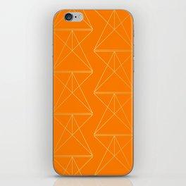 Orange Geometric Triangles iPhone Skin