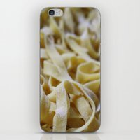 pasta iPhone & iPod Skins featuring Pasta Mountain by Bizzy Huthers