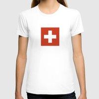 switzerland T-shirts featuring Switzerland country flag by tony tudor