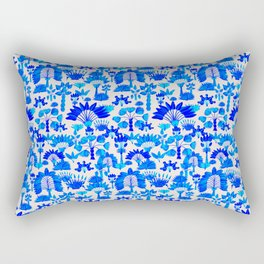Exotic Garden - Blue Rectangular Pillow