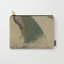 Peacock Sketch Carry-All Pouch