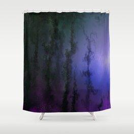 Purple Kelp Forest Edge Shower Curtain
