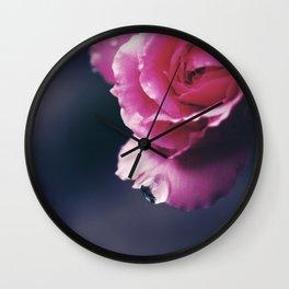 Raindrop on Petal/ Valentine's Day Card Wall Clock