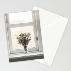 Flowers in a window Stationery Cards