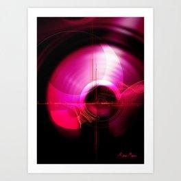 Sound vibrations Art Print