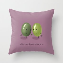Olive Me Throw Pillow