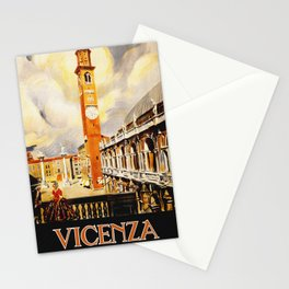 Vintage Vicenza Italy Travel Stationery Cards