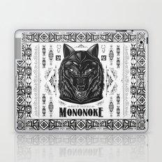Mononoke Hime Wolf Pride Letterpress Line Work Laptop & iPad Skin