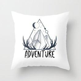 Adventure Hiking Adventure outdoor Mountain Throw Pillow