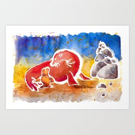 Sea Lion Love Art Print